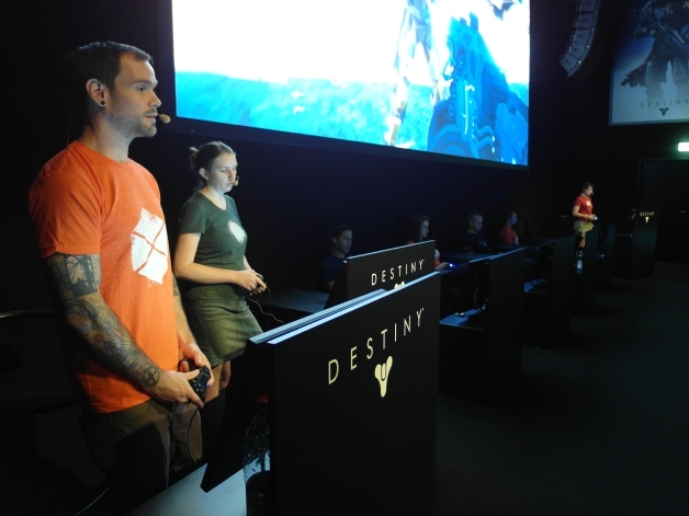 Destiny isn't quite ready for hands on yet but Bungie did a great job showing it off to the crowds - Gamescom